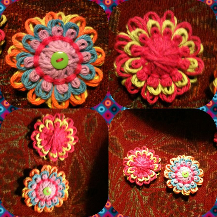 Yarn Flowers Are Fun And Easy To Make. Go To Youtube And
