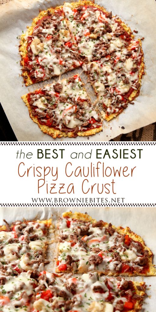 The Best And Easiest Cauliflower Pizza Crust
