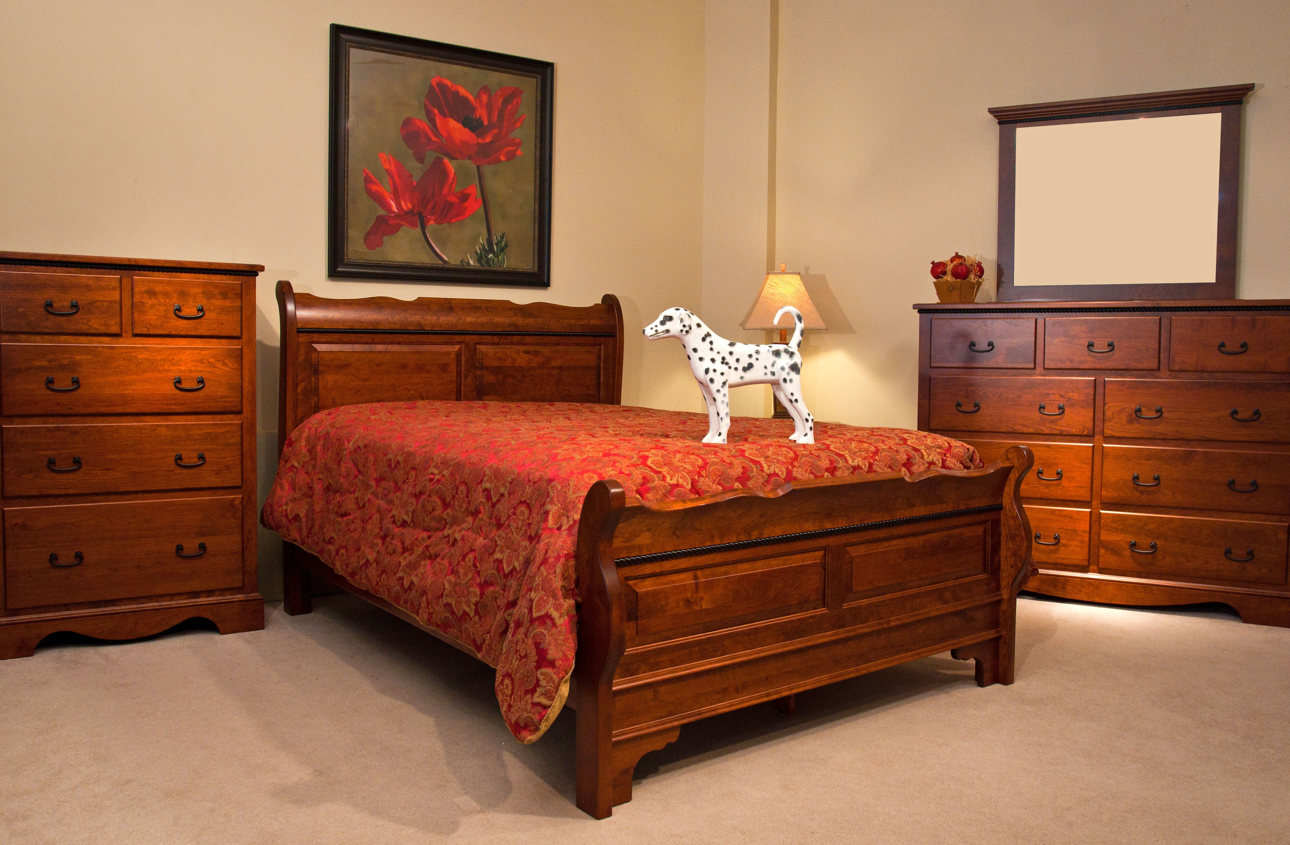 Amish Rustic Cherry Bedroom Furniture Rustic Furniture
