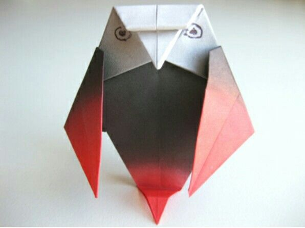 26 Beautiful 3d Origami Ba Owl Instructions Origami Paper Folding ... | 447x596