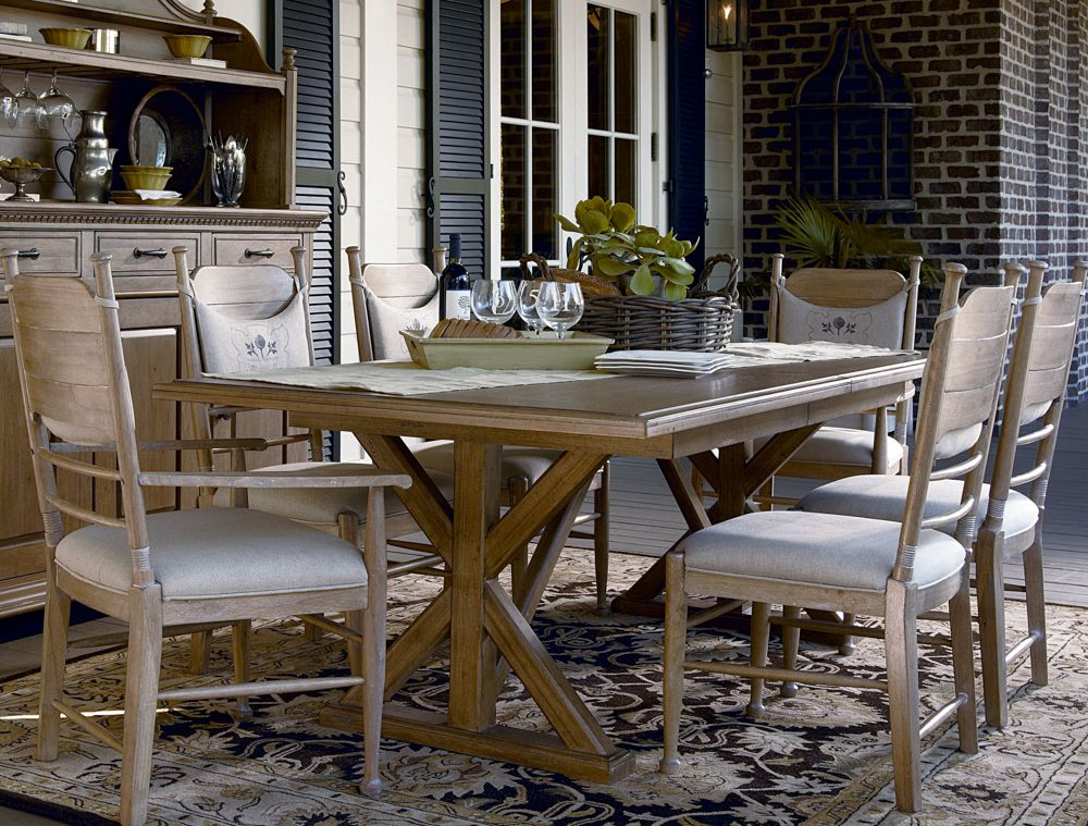Universal Furniture Paula Deen Down Home Family Style Trestle Table In Oatmeal Available At
