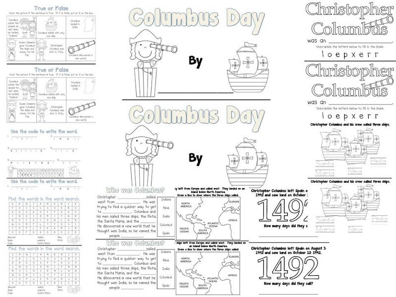 Fun in First Grade: Columbus Day Book and a Sale | School ...