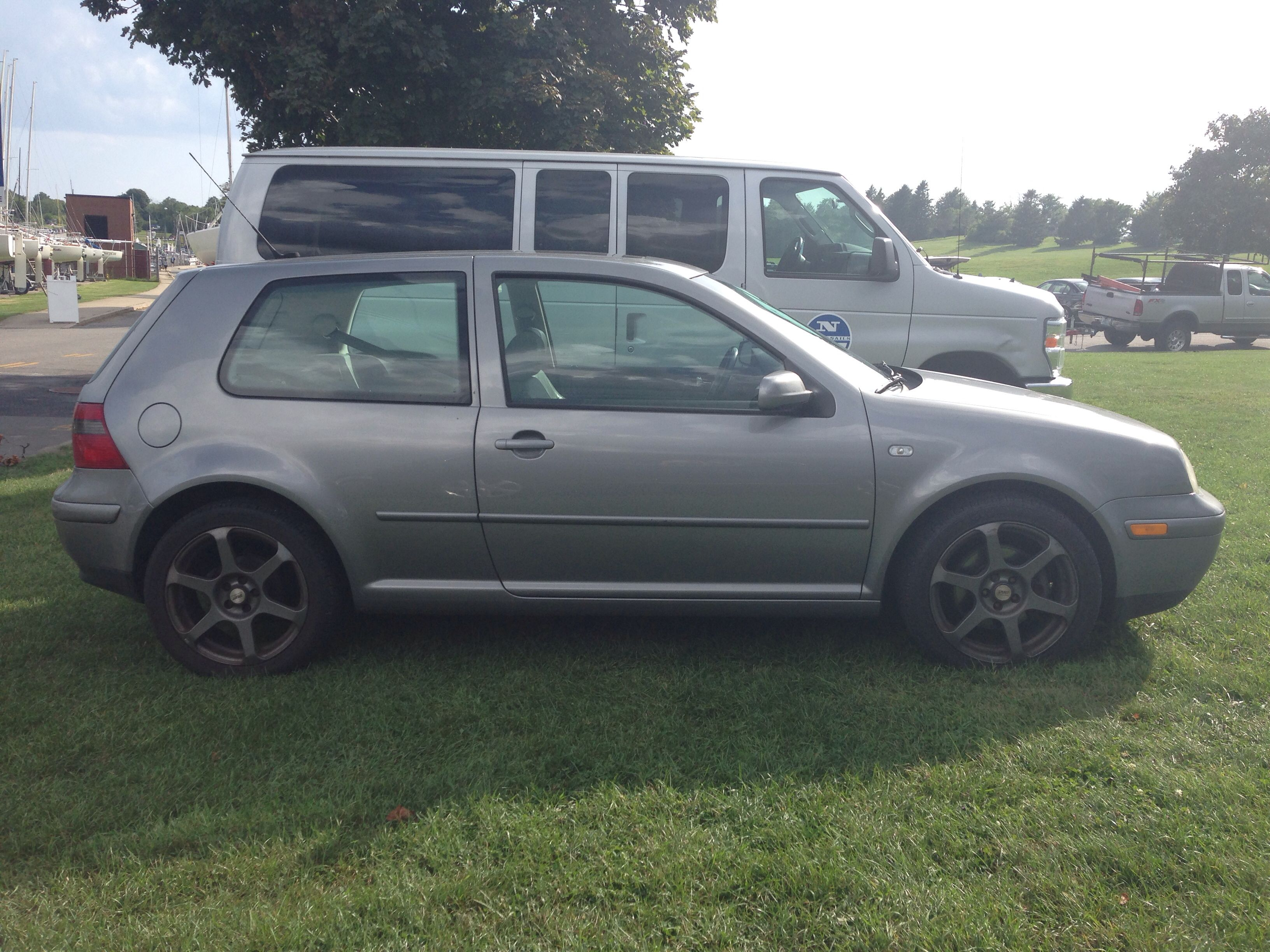 Gorgeous Space Gray Mk4 Golf 2 Door With Gti Taillights And Some Beautiful Plastidipped Alloy Wheels Gti Tail Light Alloy Wheel