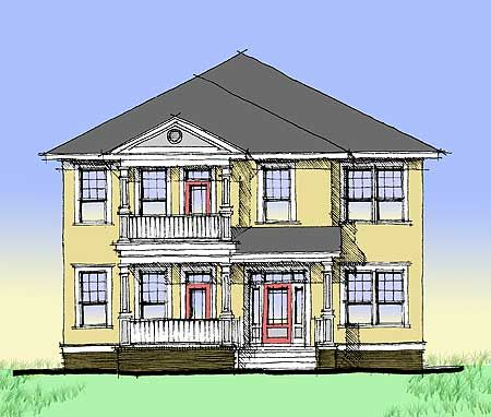 Plan 44014td Charleston Style Double Side Porch Side Porch Charleston Style Cottage Style Homes