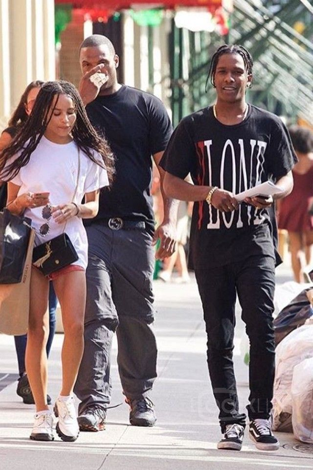 Swag Quotes Wallpaper Asap Rocky Walks With Zoey Kravitz In Soho On In 2019