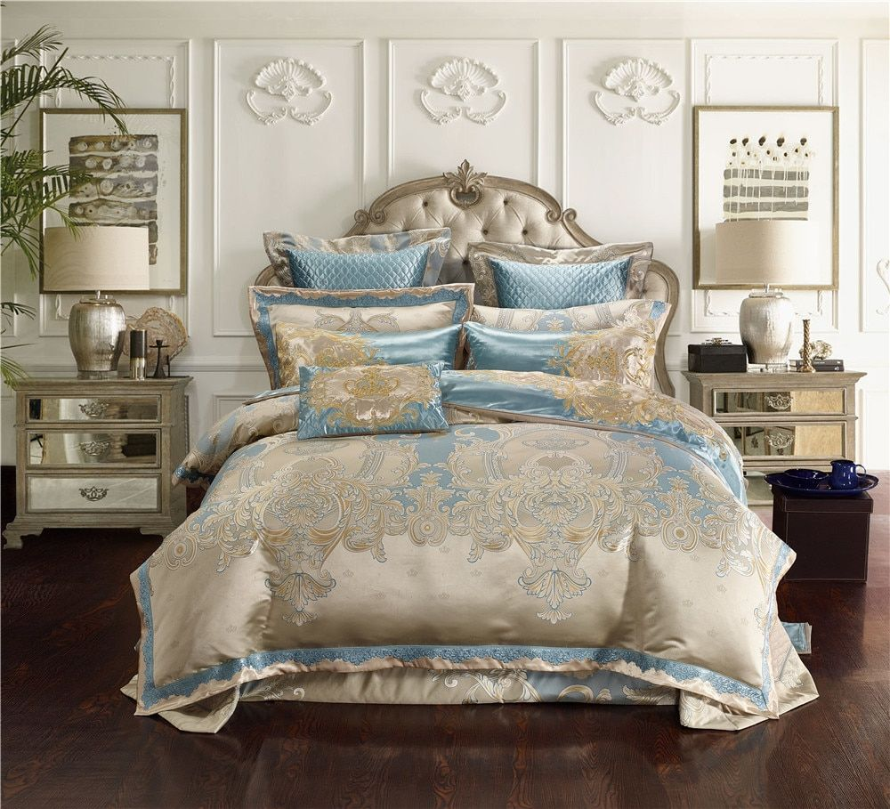 Bedding Set King Quality Sheet Directly From China Bed Suppliers Jacquard Silk Cotton Luxury Sets Size 4 6 10pcs