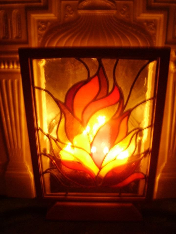 Stain Glass Fire Google Search Stained Glass Fireplace Screen