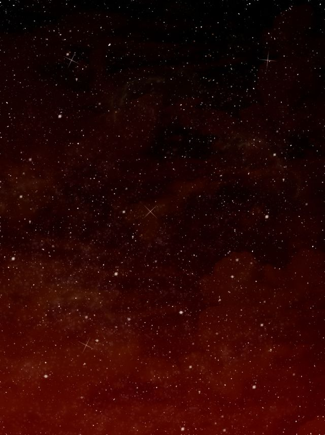 Pure Starry Sky Dark Red Background