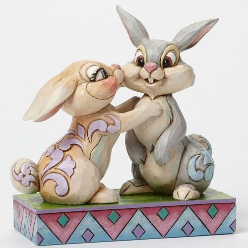 Jim Shore Disney Traditions Thumper & Miss Bunny | Spring is in the air and the Thumper and Miss Bunny are all twitterpated with love.