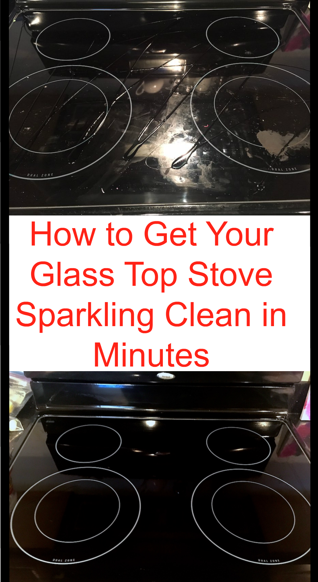How to Get Your Glass Stovetop Sparkling Clean in Minutes #cleaning