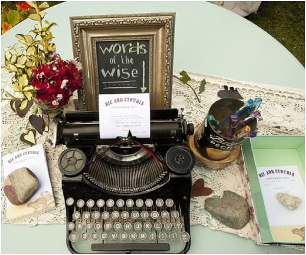 Typing Messages Guestbook. If you want to make it a vintage style to ...