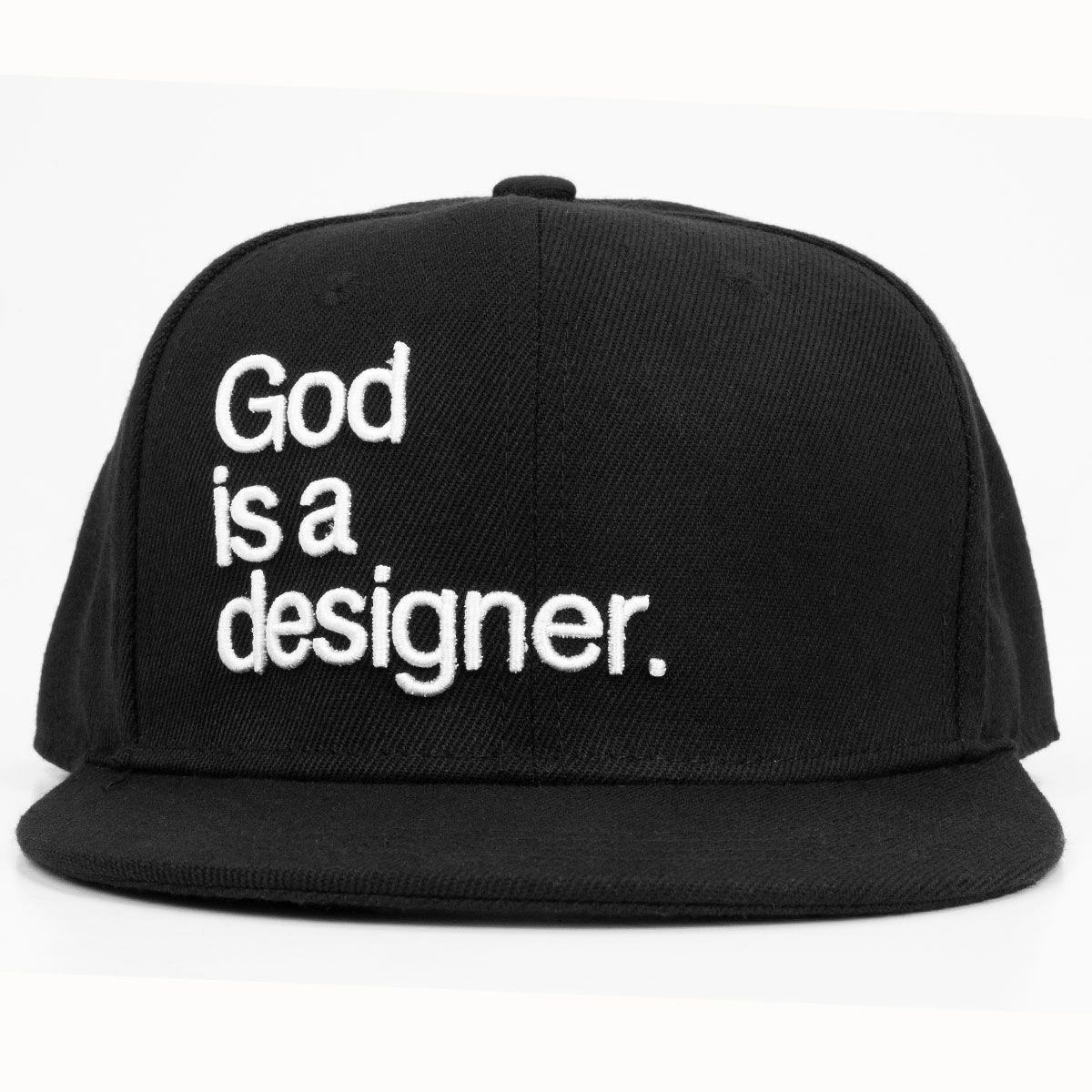 God Is A Designer Hat Hat Designs Hats Flat Bill Hats