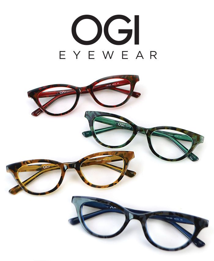 6ef2d33eee85 Ogi Eyewear: 7159 is a contemporary interpretation of the romantic cat -eye—a…