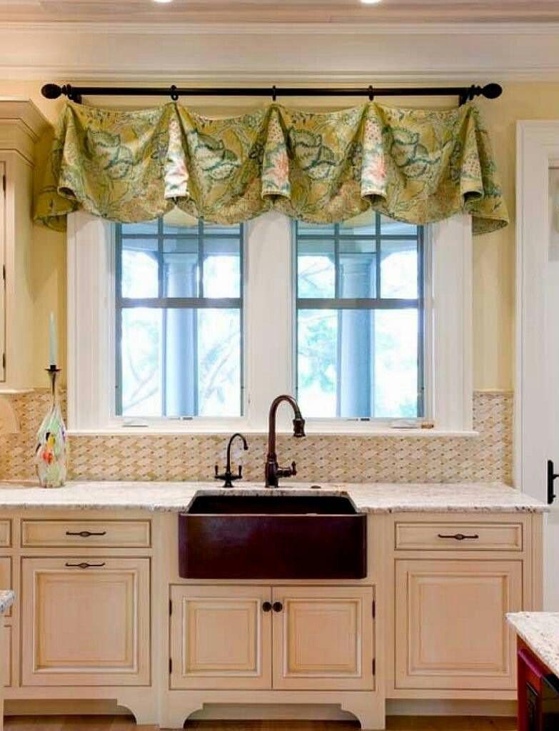 Kitchen sink window decor  pin by melissa coyle on draperies  pinterest  kitchen window
