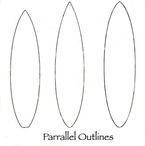 Surfboard Design Outline | Parallel and Continuous Curve | Surf\'s Up ...