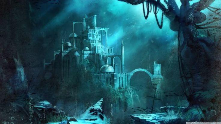 Sunken City Art Atlantis Sunken City Atlantis Underwater City Invisible Cities Underwater Wallpaper