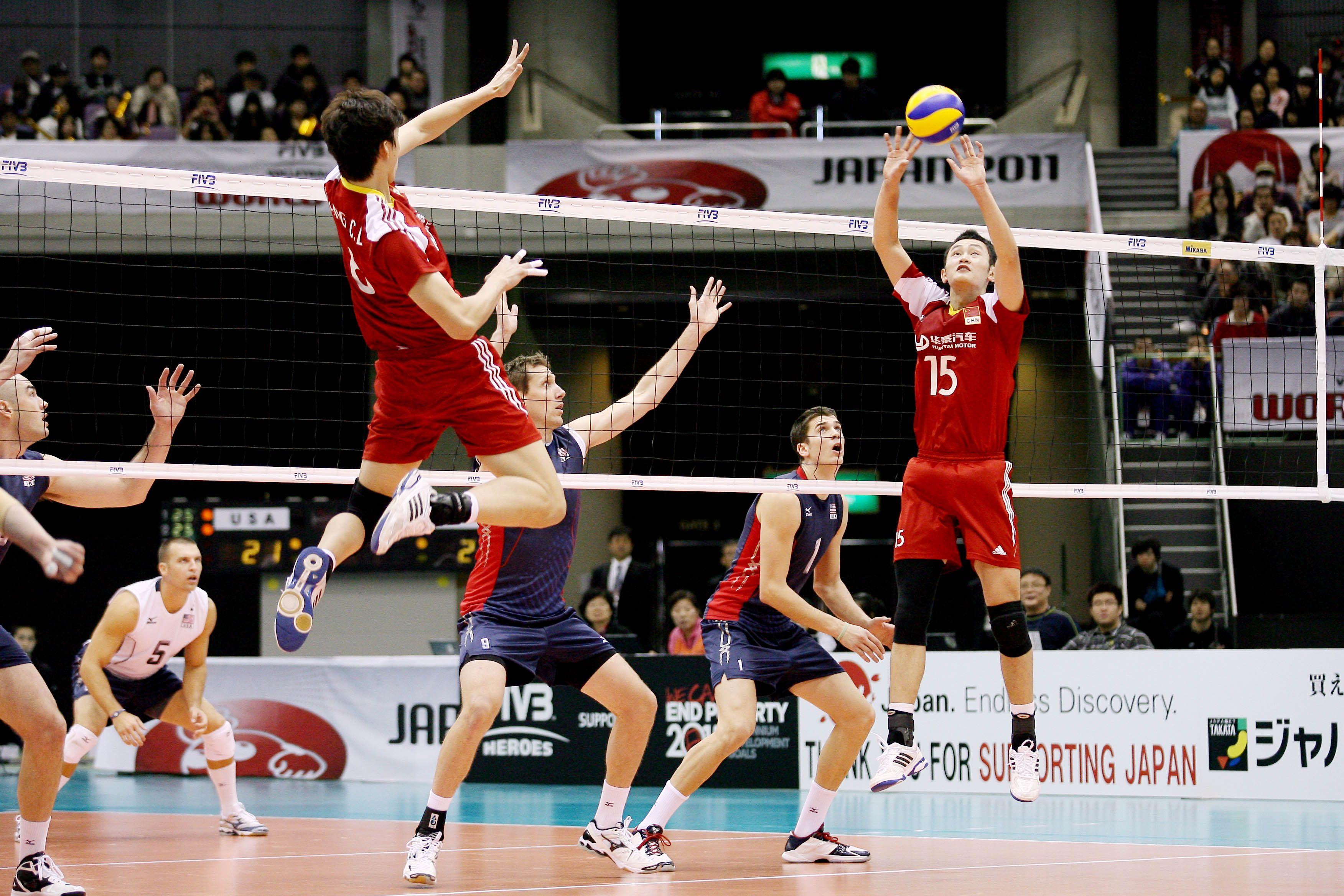 China S Runming Li Sets Volley China Japan