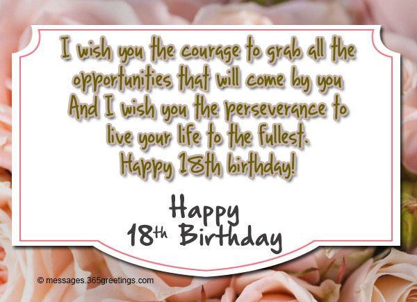 18th Birthday Wishes Messages And Greetings Messages Birthday