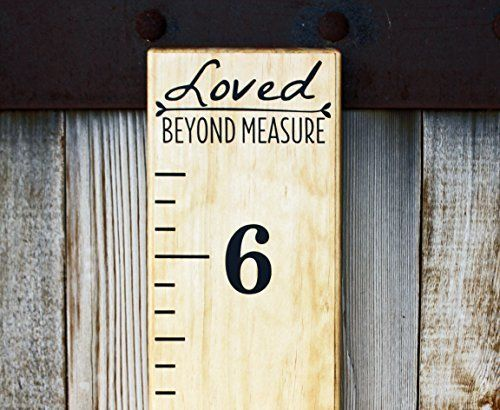 Free DIY Growth Chart Ruler Cut File – Baby Size Chart Template