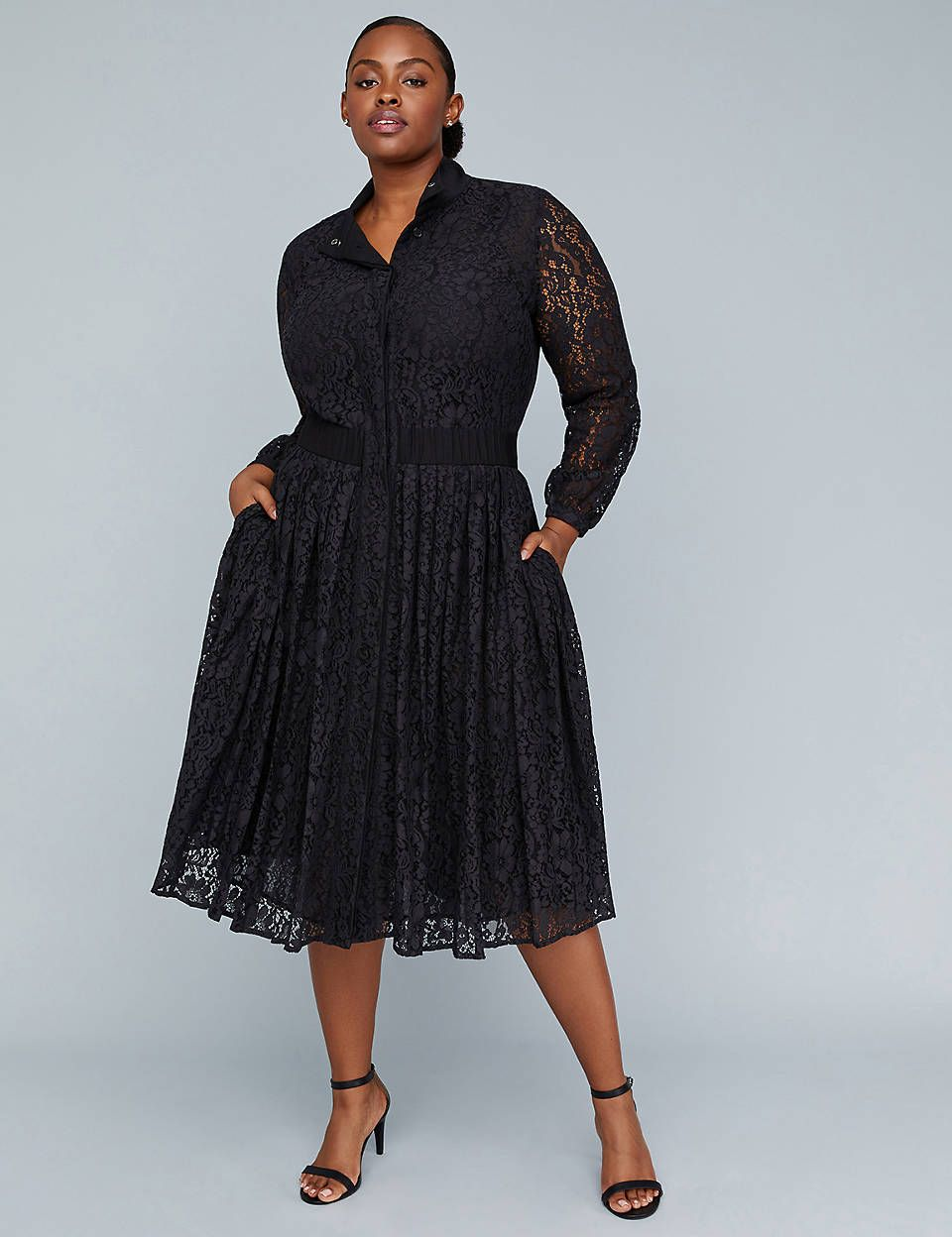 7b13a429a196 Girl With Curves Pleated Lace Dress | Lane Bryant | IT'S ALL ABOUT ...