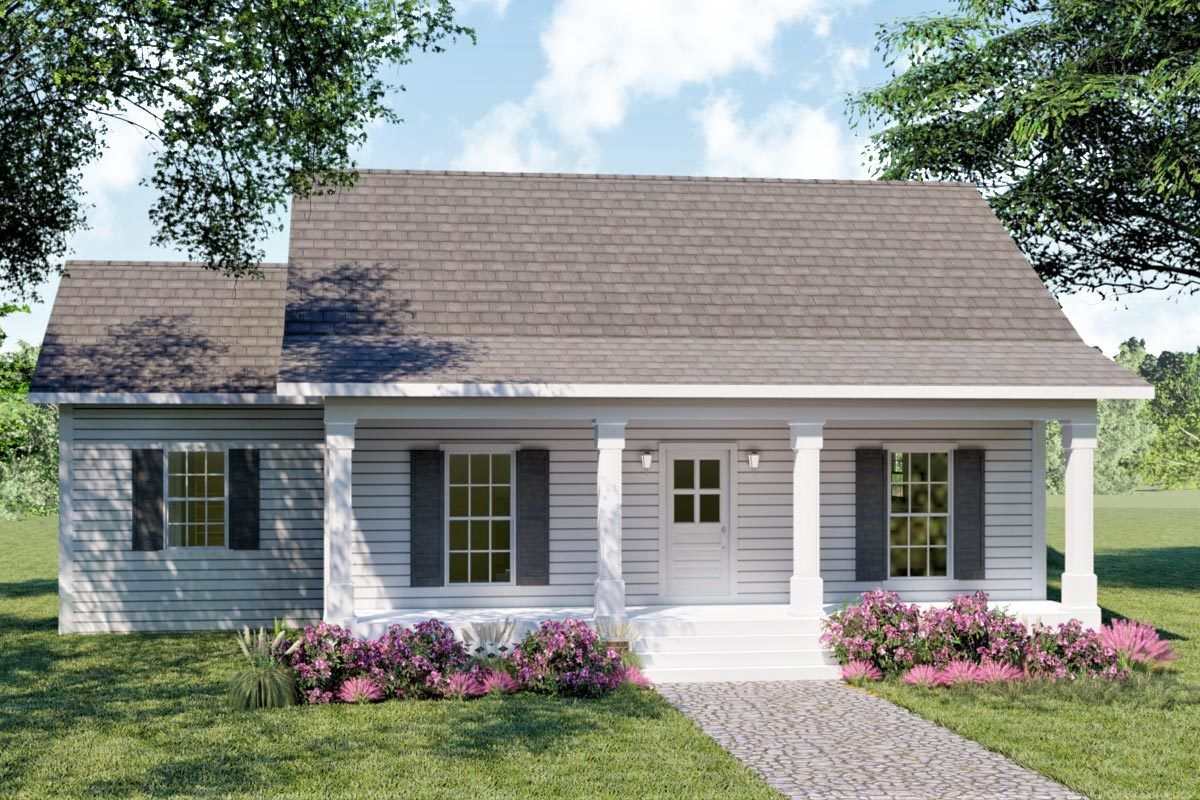 Plan 2577dh Who Says Simple Is Boring Southern House Plans Cottage Style House Plans Country Style House Plans