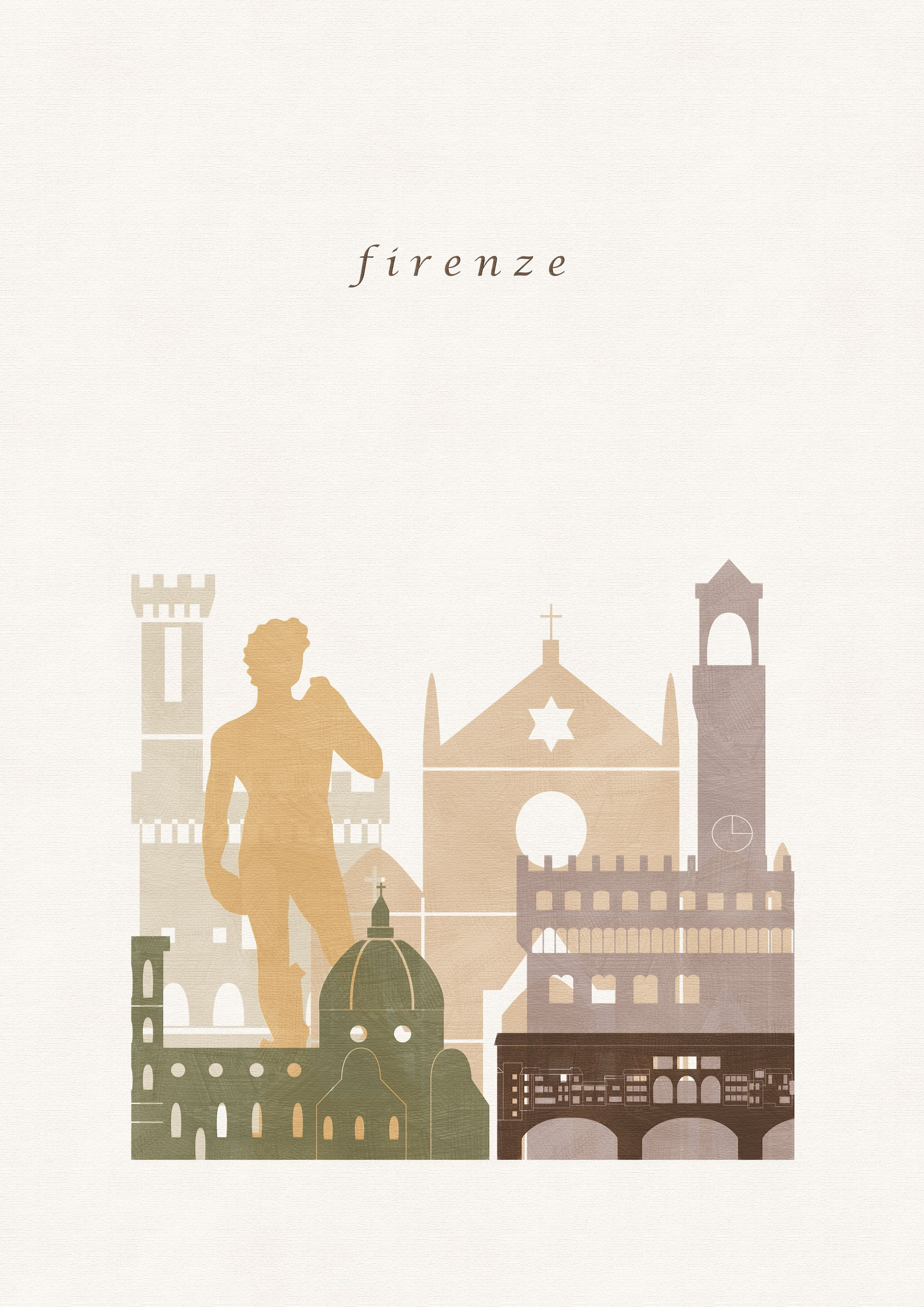Florence Print Florence Poster Florence Wall Art Florence Skyline City Prints Italy Printable Art Art In Italy Illustration City Prints City Illustration