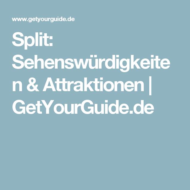 Split: Sehenswürdigkeiten & Attraktionen   GetYourGuide.de