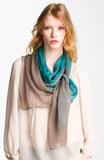 Eyeful Ombré Silk Chiffon Scarf available at #Nordstrom