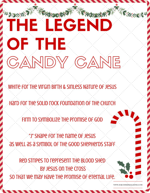 Gratifying image pertaining to the story of the candy cane printable