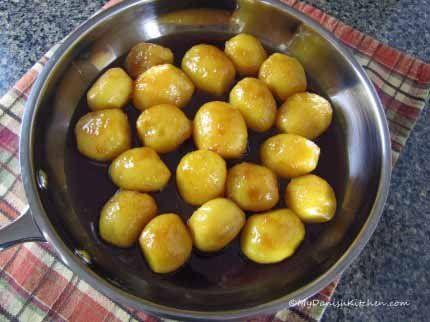 Brunede Kartofler (mydanishkitchen.com/) #brunedekartofler