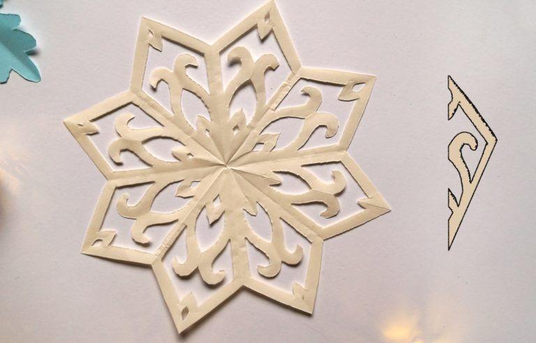 Dekoracje świąteczne Z Papieru Gwiazdki I śnieżynki Dla