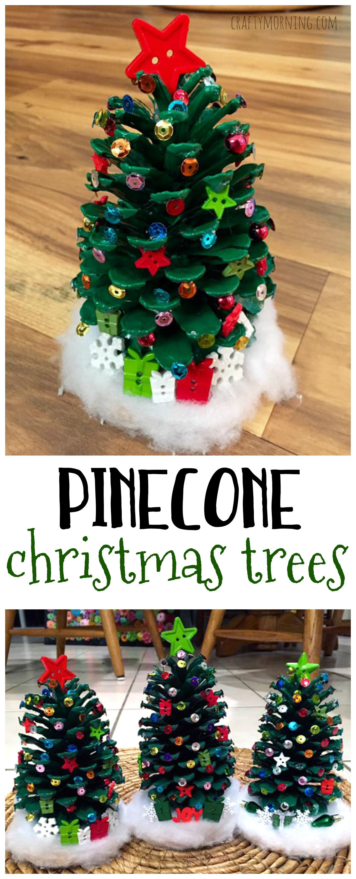 Make Adorable Pinecone Christmas Trees For A Christmas Kids Craft