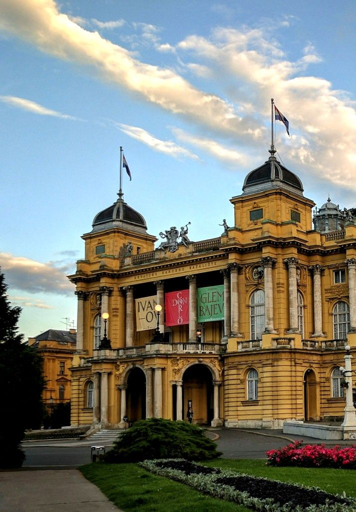 The Croatian National Theatre Is The Jewel Of Zagreb S City Centre Surrounded By A Beautiful Square Fountains And Architecture Zagreb Croatia Zagreb Croatia