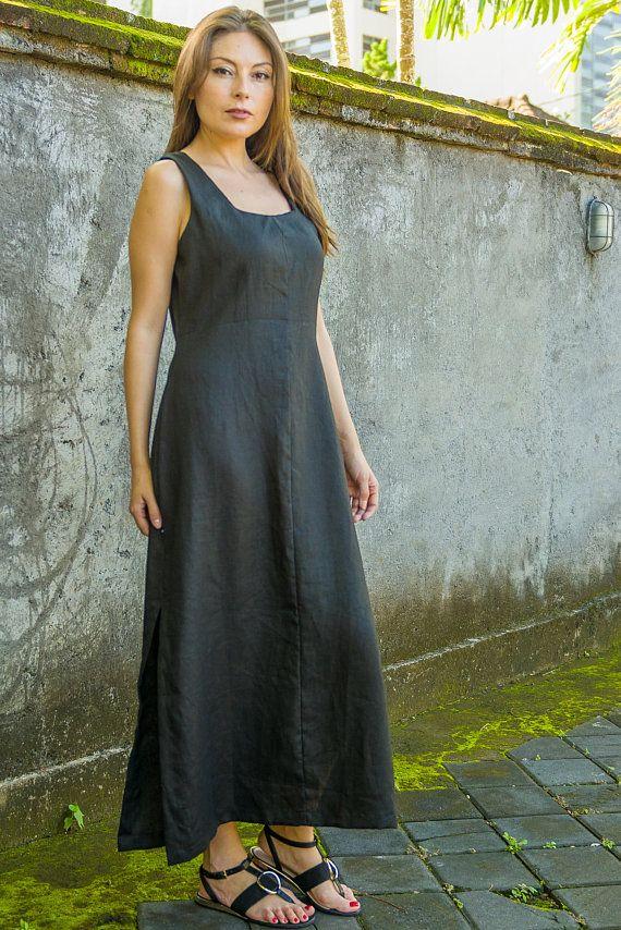 7918919d Donna Dress, Linen Dress, Maxi Dress, Cocktail Dress, Sheath Dress,  Sleeveless Dress, Summer Dress,