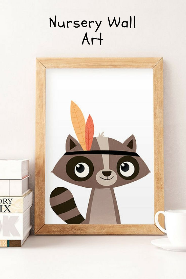 Cute raccoon wall art perfect for kidus bedroom ad etsyfinds