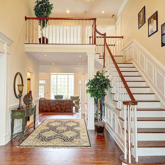 Story Foyer Decorating Pictures : Image result for two story entryway wainscoting
