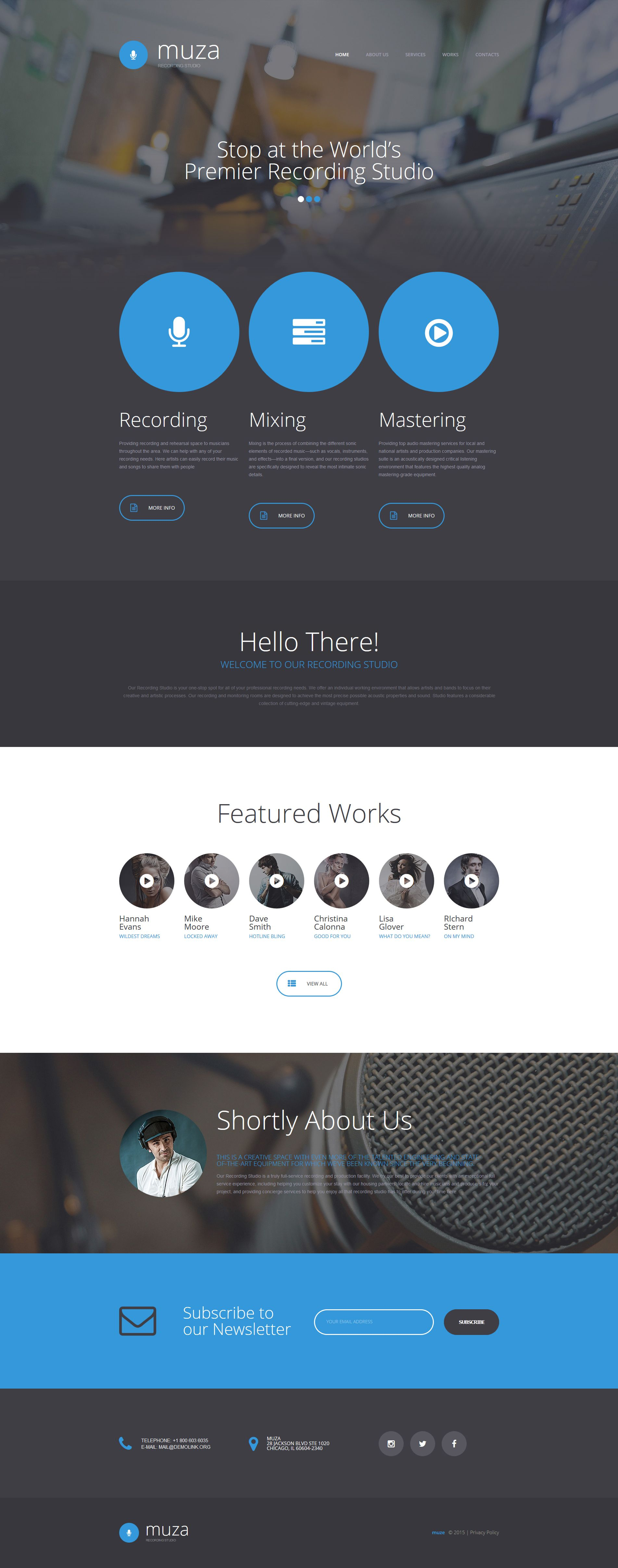 Music Production Co Website Template | Music web, Template and Website