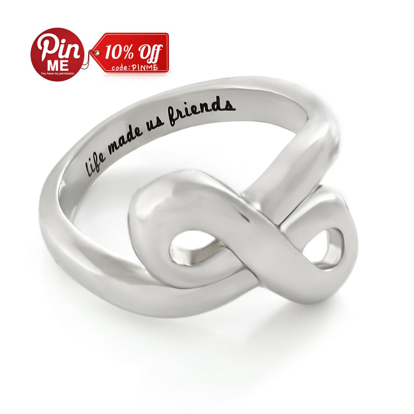 Friends infinity ring promise ring double infinity symbol ring friends infinity ring promise ring double infinity symbol ring life made us friends biocorpaavc Image collections