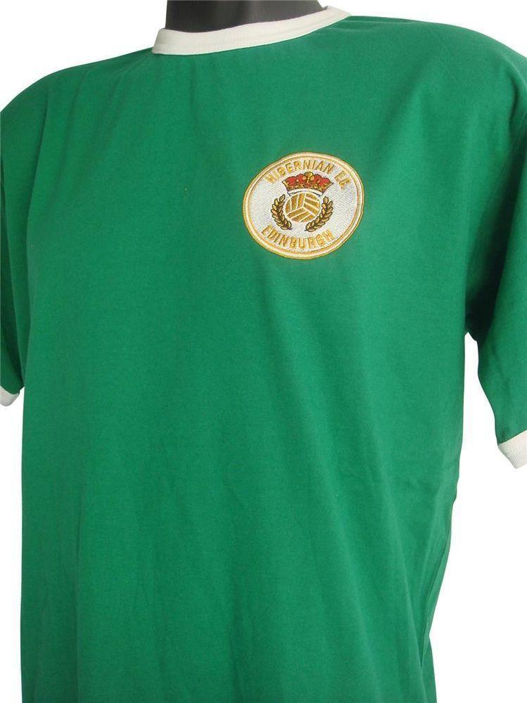Hibernian 1980s Football Hoodie Sizes S-XXXL Embroidered Logo