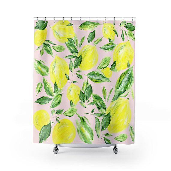 Pink Lemon Shower Curtain