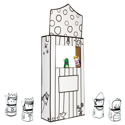 Little Dues: Juguetes - Teatrillo de marionetas para colorear ...