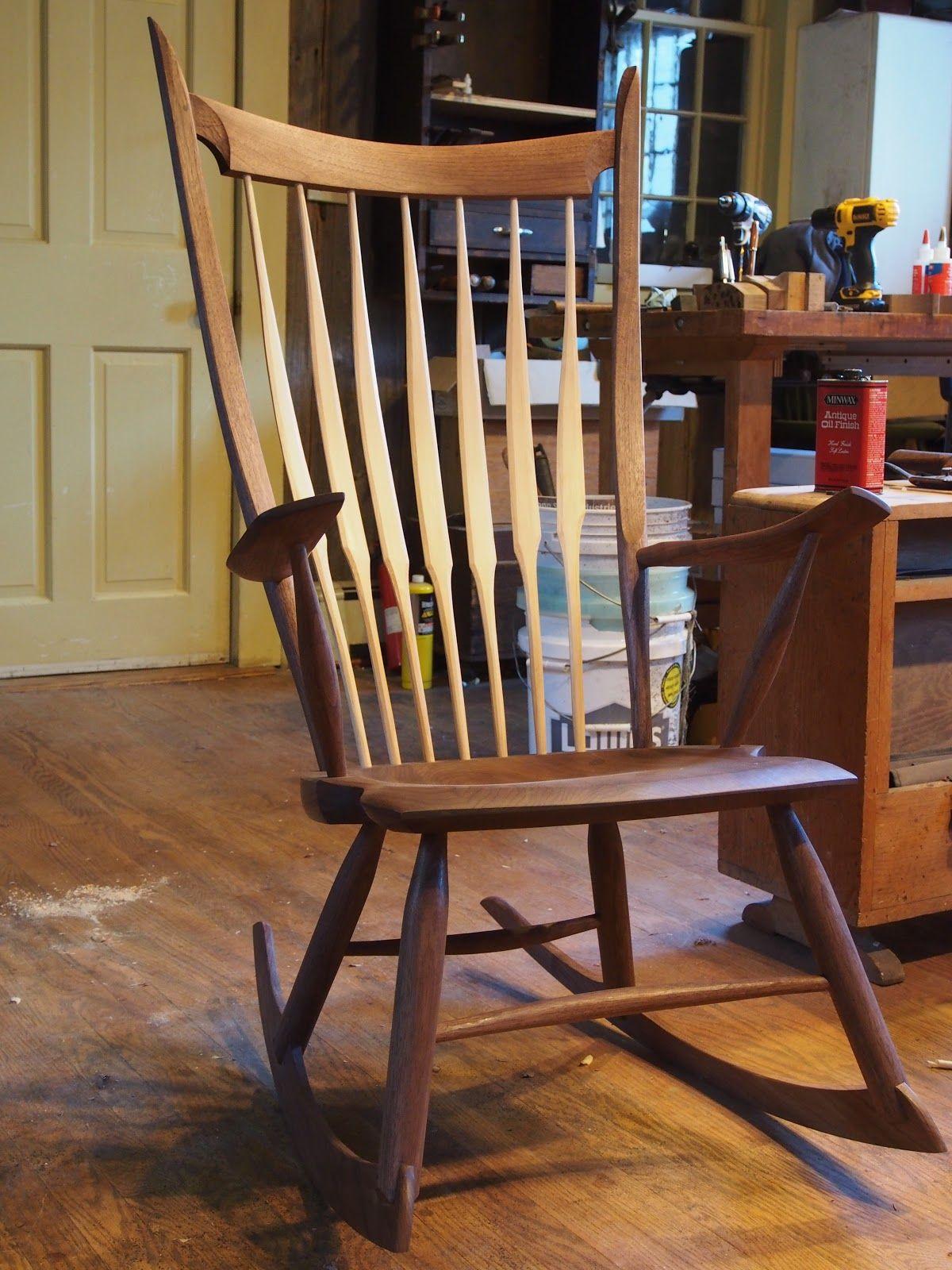 Amazing Rocking Chair by Peter Galbert Furniture