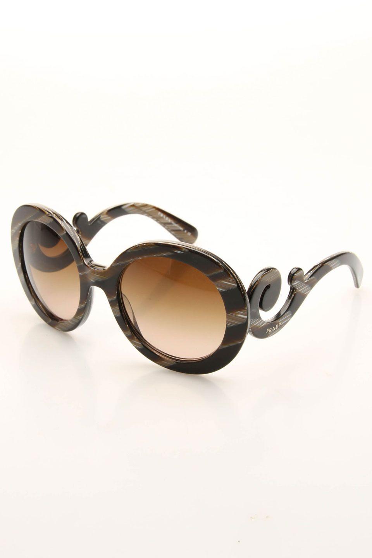 fa1244bc0354 Prada Wyder Sunglasses in Brown and Black Stripe.