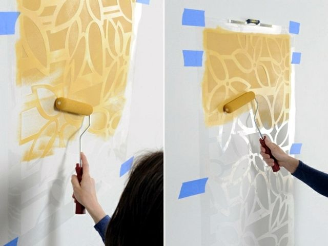 Paint the walls - 21 creative ideas wall templates, including ...