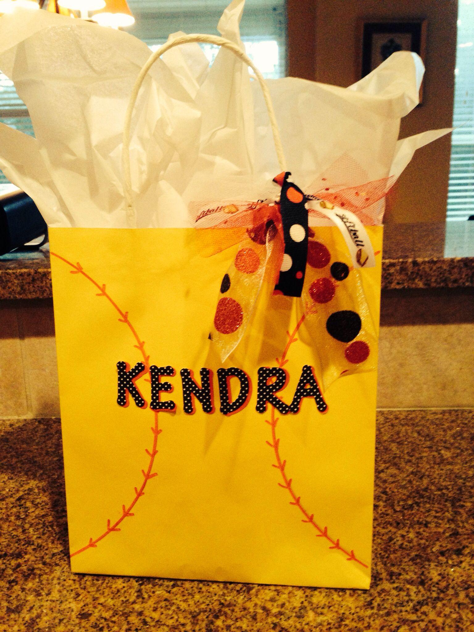 softball gift bag | softball | pinterest | softball, softball gifts