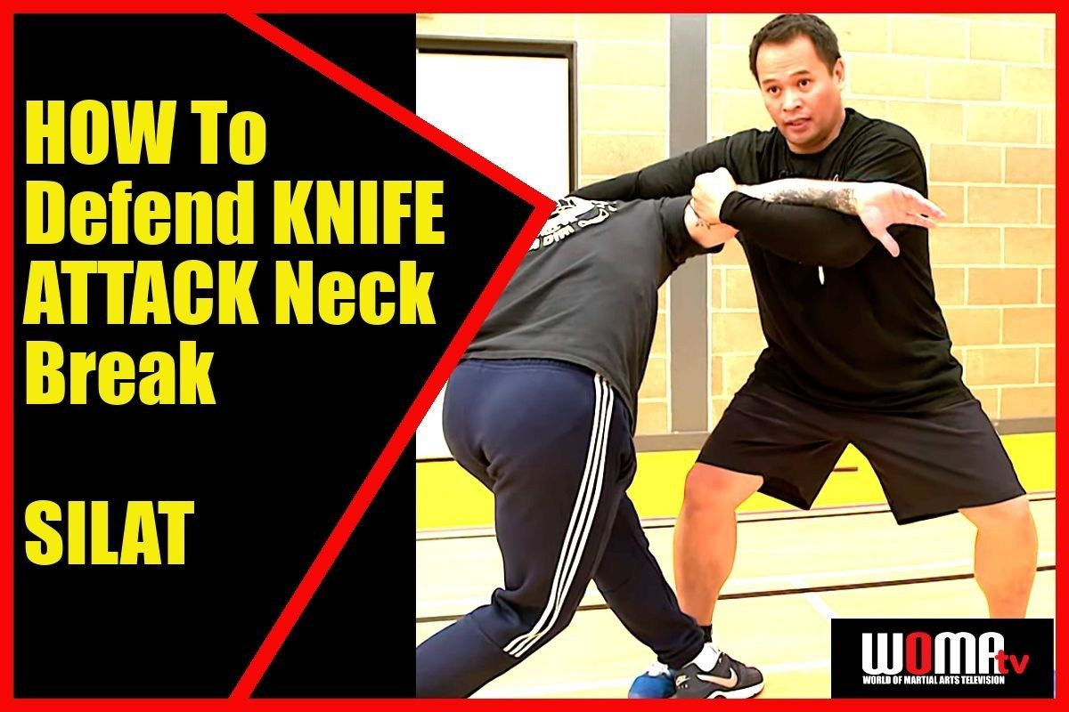 HOW To Defend KNIFE ATTACK Neck Break SILAT Martial arts
