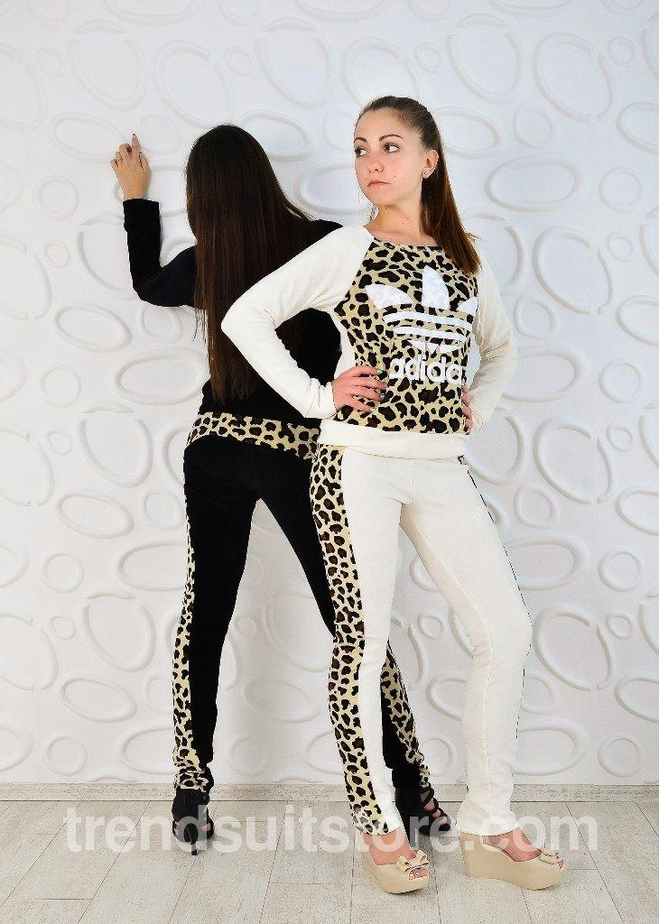 tracksuit  leopard  velour Stylsih ladies leopard print tracksuit ... c6f6b30525