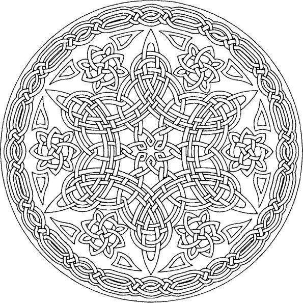 mandala pintar celtic Pinterest Mandala Adult coloring and