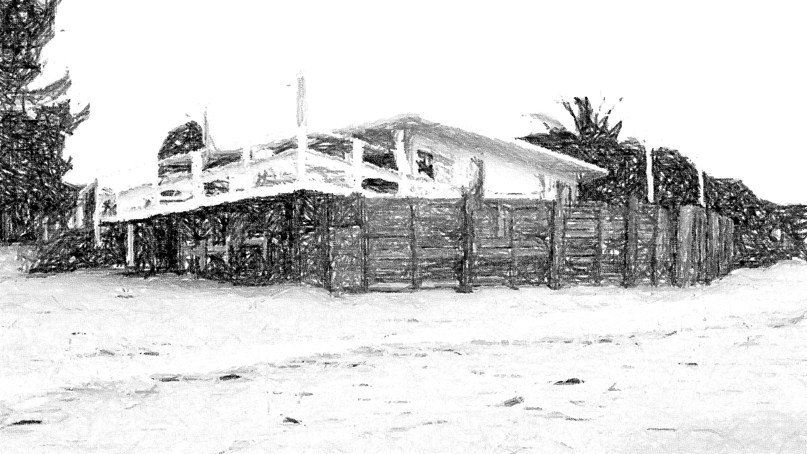 The Pearl Beach Inn with the Stencil Filter on!   Pearl ...
