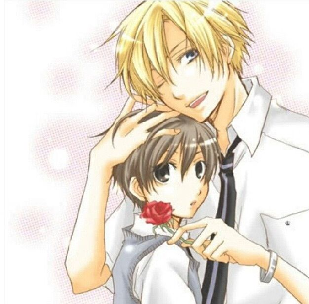 The Characters Tamaki And Haruhi From The Series Ouran High
